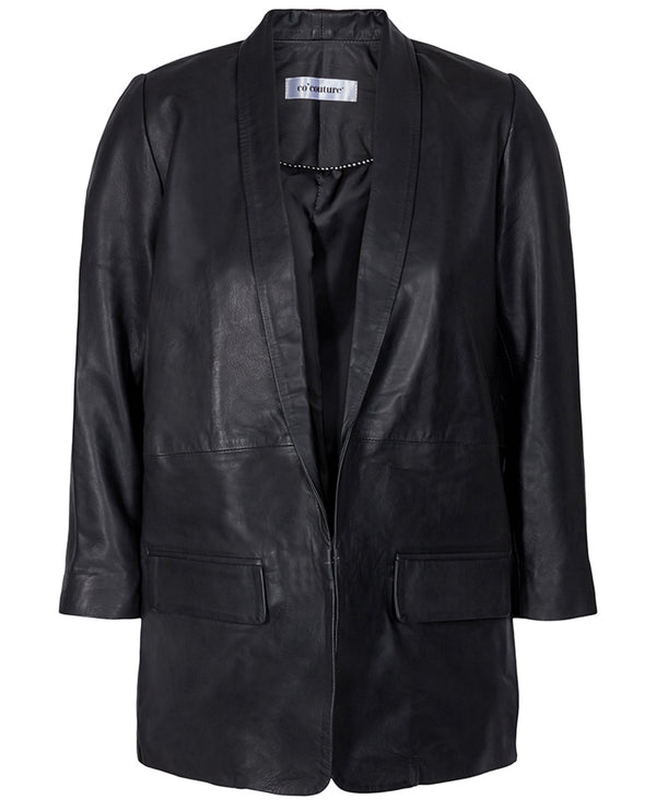 Cocouture Andrea Black Leather Blazer