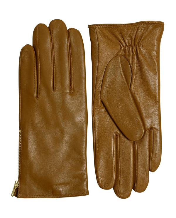 Part Two Nyasia Bronze Leather Gloves