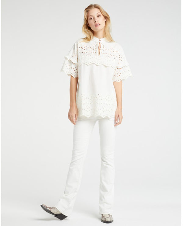 Yaya White Denim Worker Jeans