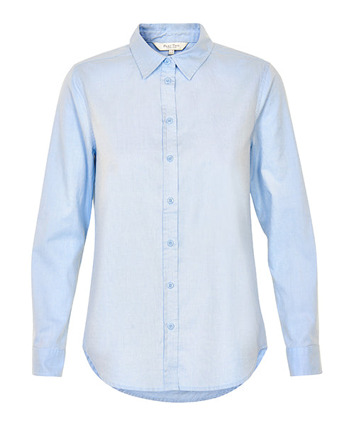 Part Two Classic Chrissie Shirt Blue Skyway Pastle Pale Light Cotton Oxford Ladies Tailored Smart Workwear Top | Biscuit Clothign Edinburgh