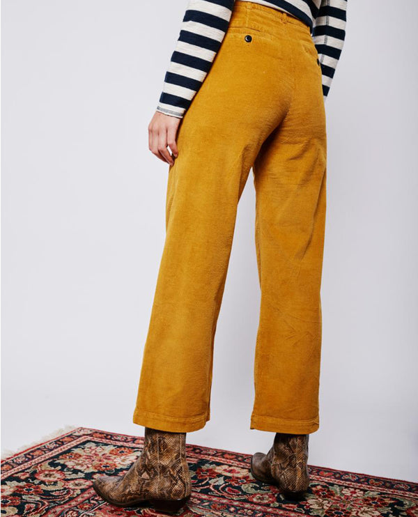 Leon and Harper Phil Yellow Cord Trousers