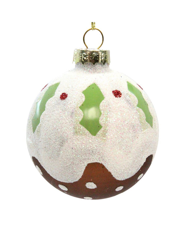 Gisela Graham Xmas Pudding Ball Decoration