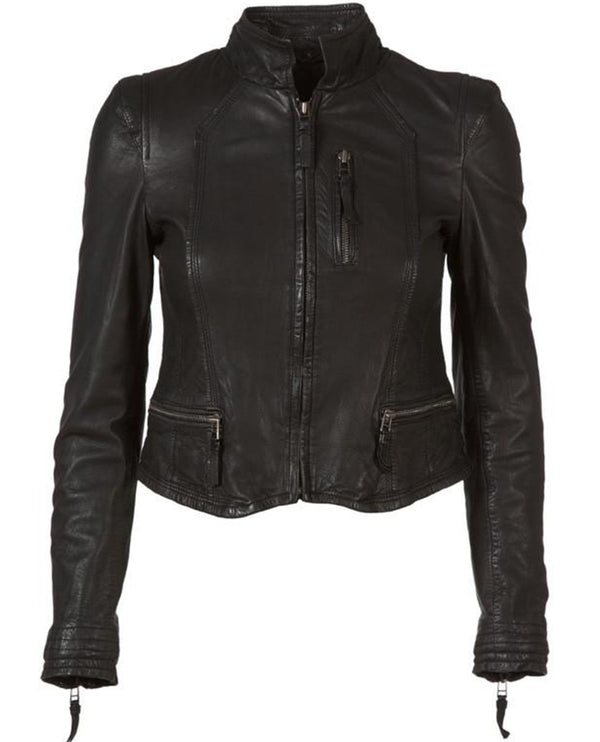 MDK Racy Black Leather Jacket