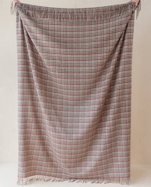 Tartan Blanket Co. Rural Gingham Lambswool Blanket