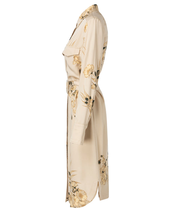 Yaya Desert Sand Floral Dress
