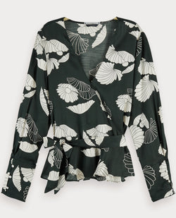 Scotch and Soda Wrap Top