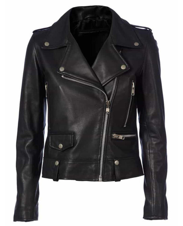 MDK Seattle Black Leather Jacket