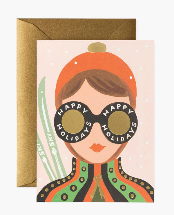 Rifle Paper Co. Ski Girl Card