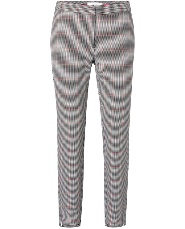 Yaya Slim Checked Trousers