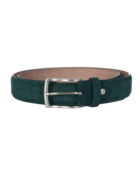 Fioriblu Ladies papavero italian Mens Unisex leather suede green teal Belt | Biscuit Clothing