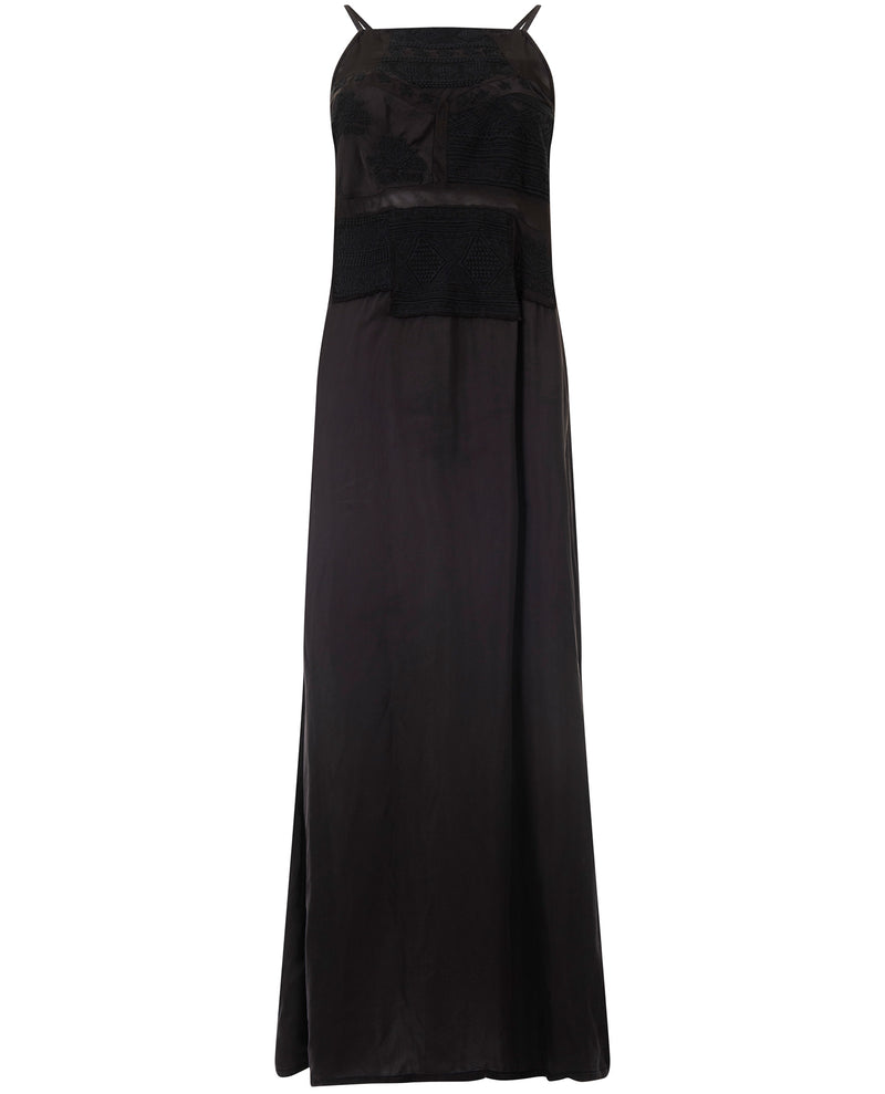 Teoh and Lea Black Maxi Dress