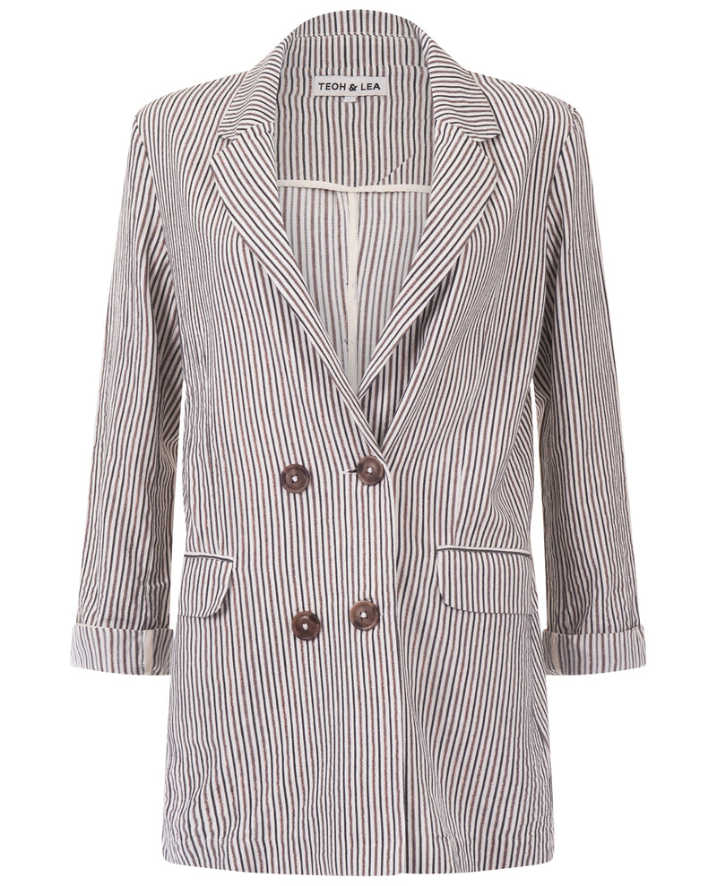 Teoh and Lea Striped Blazer