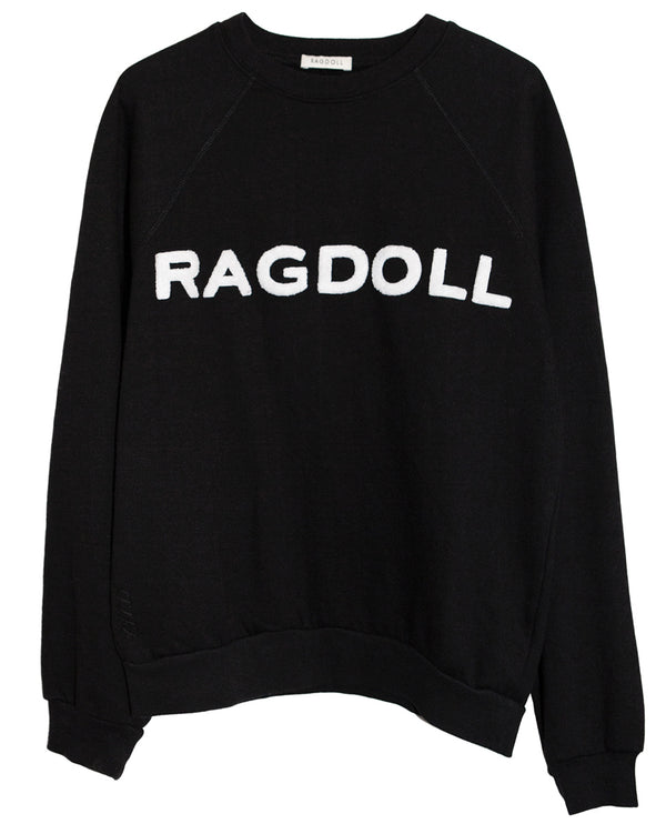 Ragdoll Black Terry Sweatshirt
