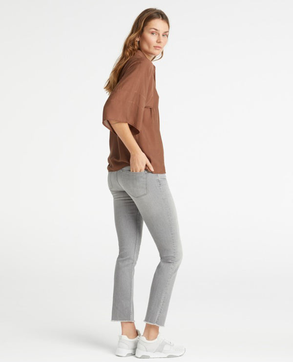 Yaya Basic Grey Straight Jeans