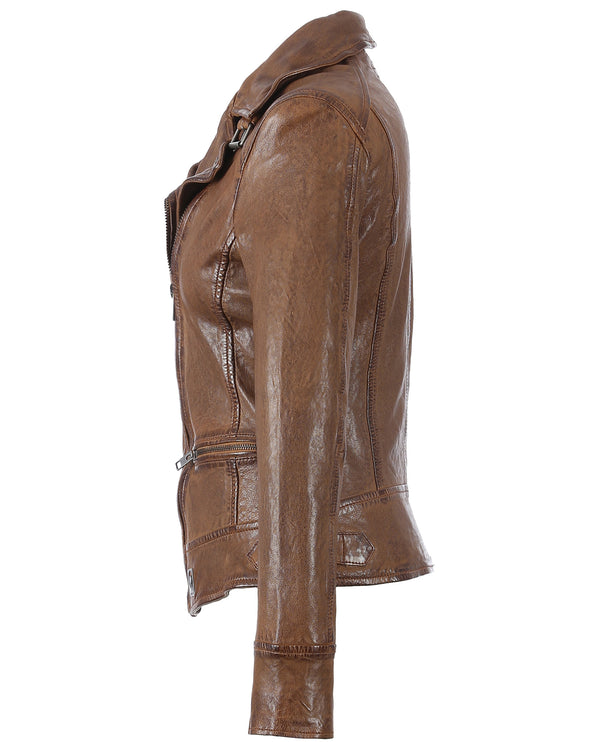 Oakwood Video Tan Leather Jacket