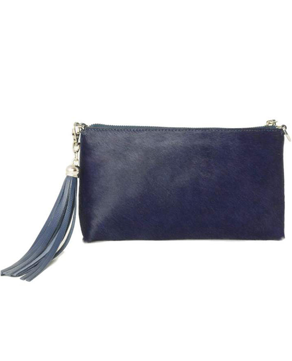 Fioriblu Forget Me Not Clutch Navy Furry