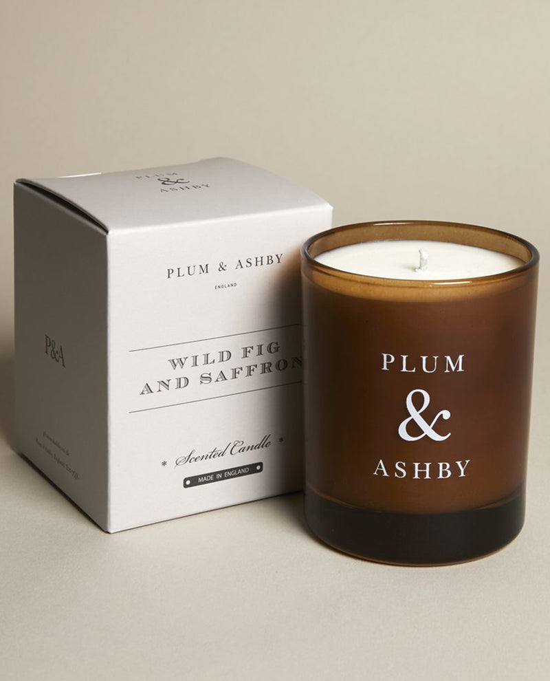 Plum and Ashby Wild Fig and Saffron Scented Candle