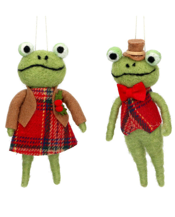 Gisela Graham Wool Frog Decoration