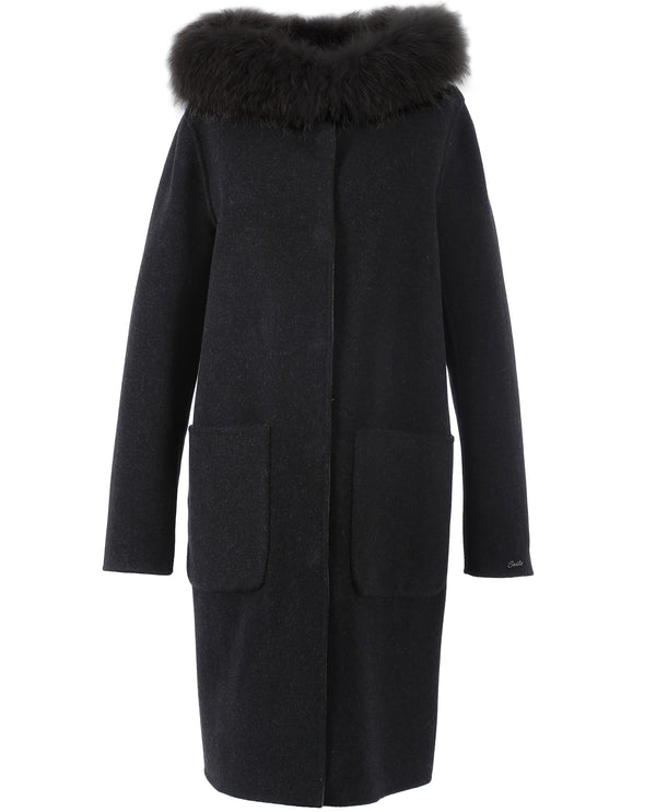 Oakwood Yale Black Wool Coat