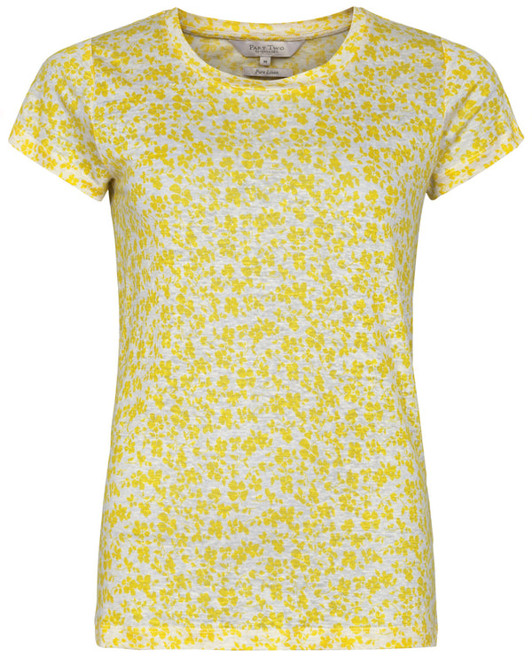 Part Two Kassim Yellow Linen T-Shirt
