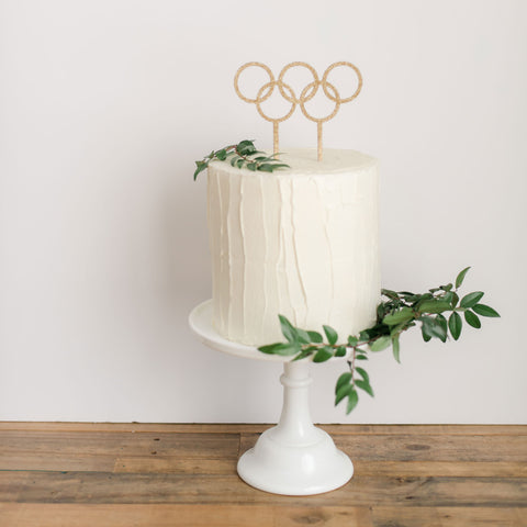 Olympic Rings cake topper