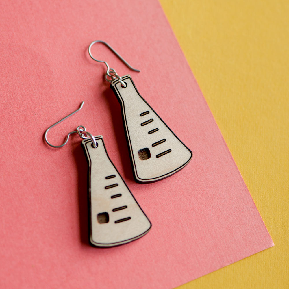 Science beaker earrings