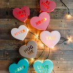 Candy Heart luminary SVG files