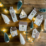 White Christmas House Luminaries