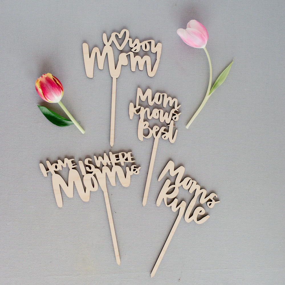 Wooden Mothers day Planter sticks