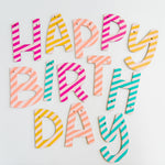 HAPPY BIRTHDAY paint your own wood banner