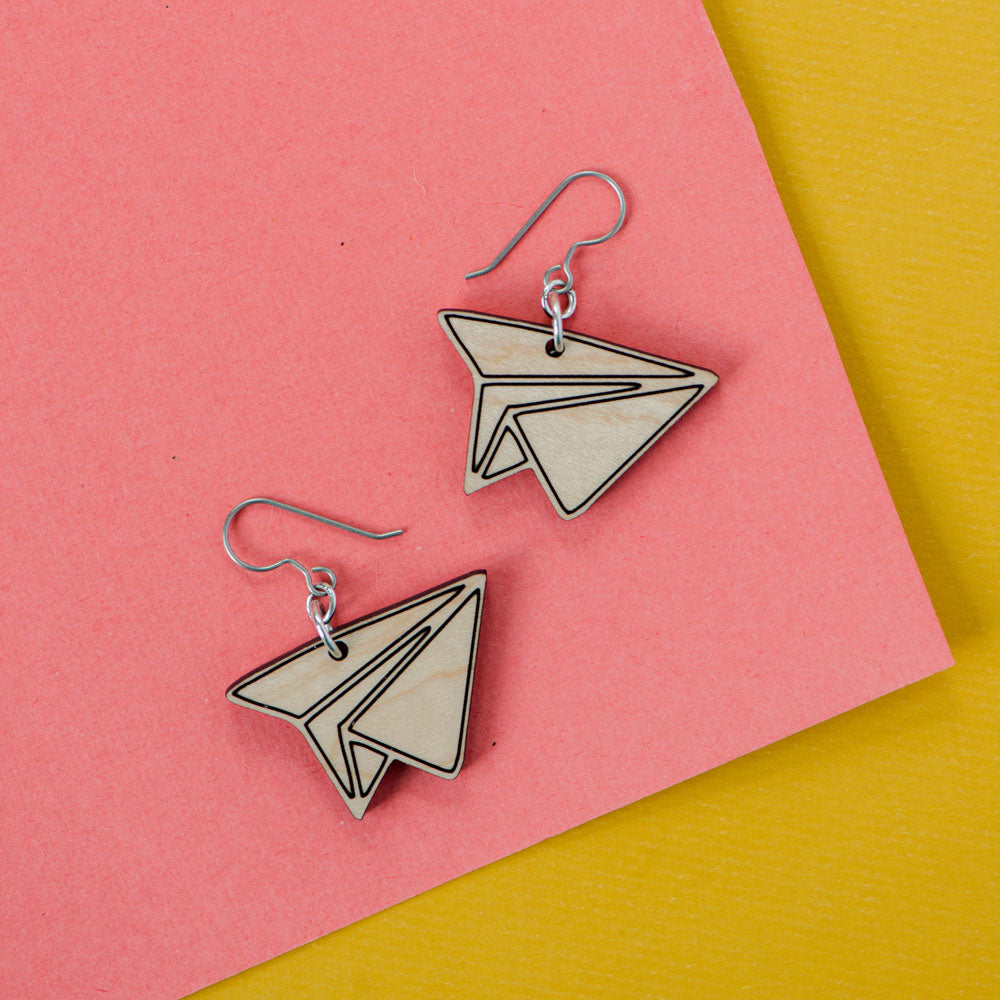 Paper Airplane earrings