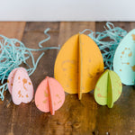 Splatter painted colorful Easter Eggs