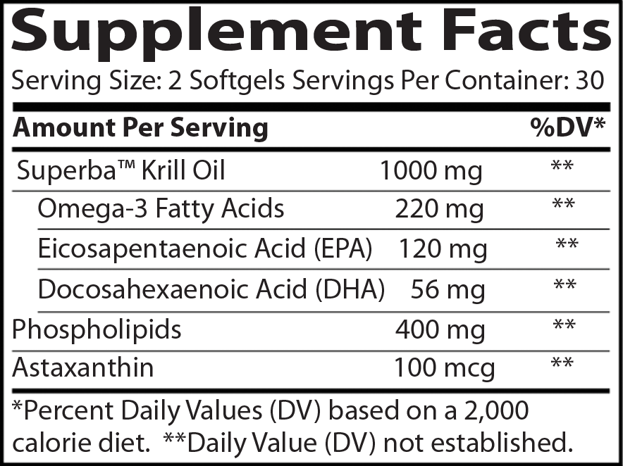 krill oil supplement facts