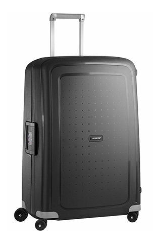 Samsonite S'Cure Kuffert i sort (L) - Hardcase 4-hjuls