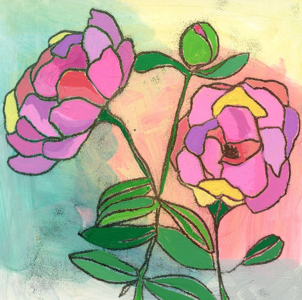 Blooming Peonies Limited Edition 5x5 inch print