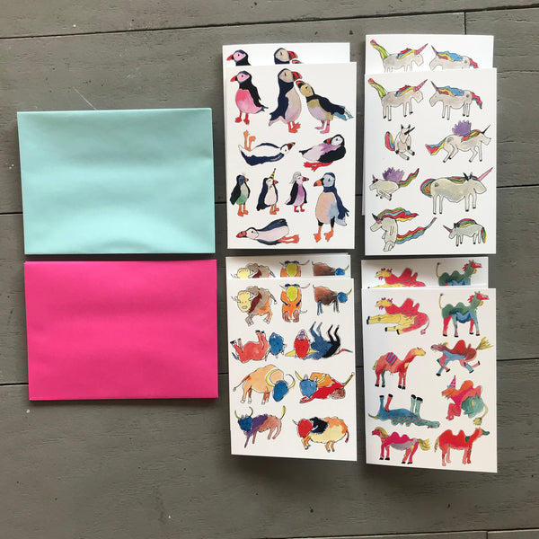 Set of 8 notecards and envelopes
