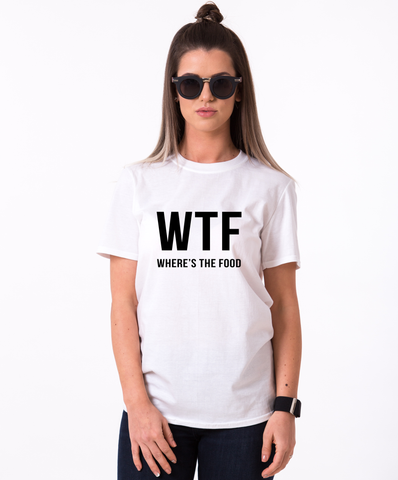 WTF where's the food T-shirt,WTF where's the food shirt, Tumblr shirt, Tumblr top, Black/White/Gray/Blue, UNISEX