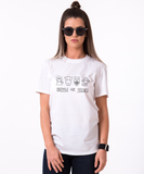 Animals are friends T-shirt, Animals are friends  shirt, 100% cotton Tee, Black/White/Gray, UNISEX