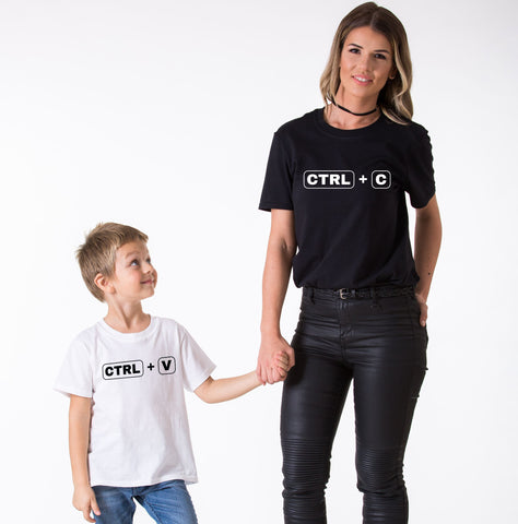 Ctrl+C Ctrl+V Mommy and Me Shirts