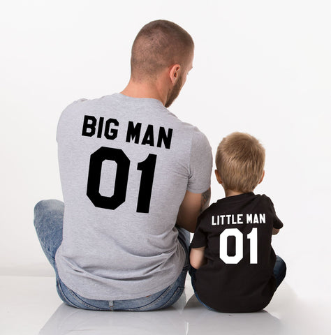 Big Man 01 Little Man 01 Daddy and Me Matching Shirts