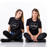 Best Bitches Set of 2 BFF T-shirts, Best Bitches Set of 2 BFF Shirts 100% cotton Tee, Black, UNISEX