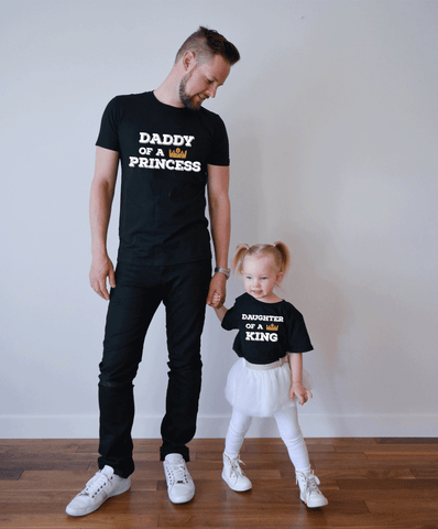 Daddy of a Princess Daughter of a King, Daddy and Me Shirts
