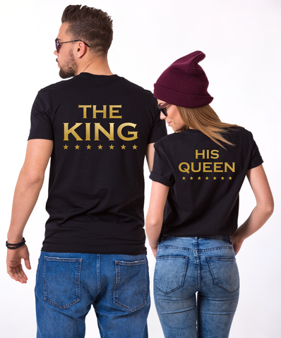 The King His Queen shirts, The King, His Queen, Couple t-shirts, UNISEX model