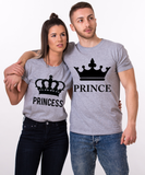 Prince, Princess, Big Crowns, Couples Matching Set