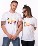 I'm Her Kind, I'm His Queen, Tropical Pattern, Couple Matching Set of Shirts