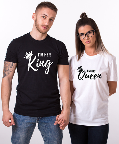 d6f0b5173c I'm Her King, I'm His Queen, Crowns Shirts, Couples Matching Set – Epic  Tees 4 You