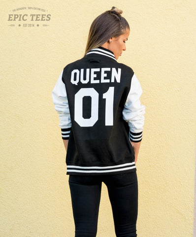 Queen 01 Varsity Jacket, College Jacket, Letterman Jacket