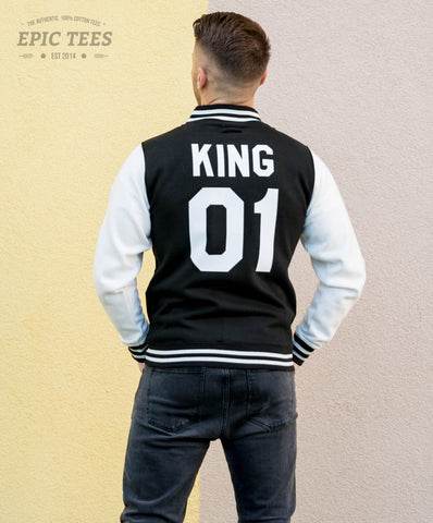 King 01 Varsity Jacket, College Jacket, Letterman Jacket