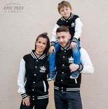 King 01 Queen 01 Prince 01 Varsity Jackets, Family Matching Set of Jackets