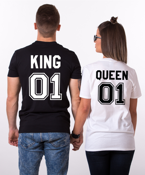 60f0b58ad8 King and Queen 01 Couples T-shirt Set, King and Queen shirts, 01 Coupl –  Epic Tees 4 You